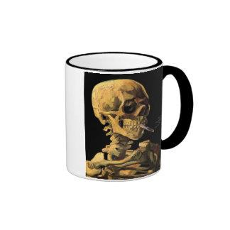 Van Gogh Skull With Burning Cigarette Coffee Mug