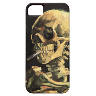 Van Gogh Skull with Burning Cigarette iPhone Case