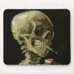 Van Gogh - Skull with Burning Cigarette Mouse Pads