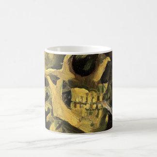 Van Gogh Skull with Burning Cigarette, Vintage Art Coffee Mug
