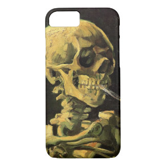 Van Gogh Skull with Burning Cigarette, Vintage Art iPhone 7 Case