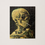 Van Gogh Skull with Burning Cigarette, Vintage Art Puzzle