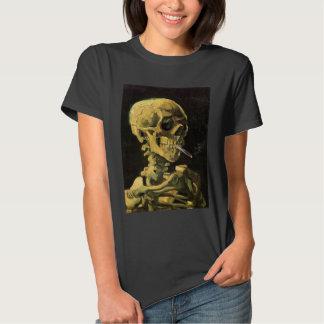 Van Gogh Skull with Burning Cigarette, Vintage Art Shirt