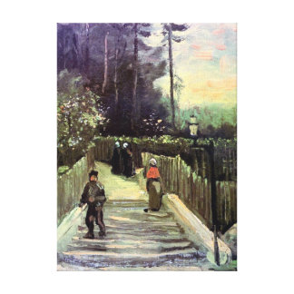 Van Gogh - Sloping Path In Montmartre Gallery Wrap Canvas