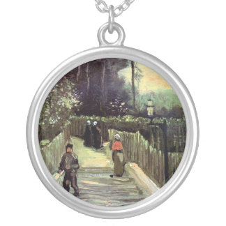Van Gogh - Sloping Path In Montmartre Necklaces