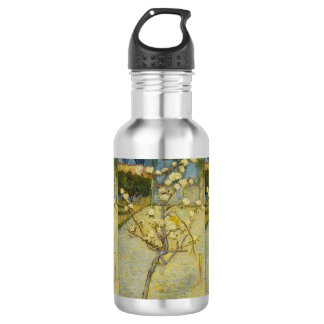 Van Gogh Small Pear tree in blossom Stainless Steel Water Bottle