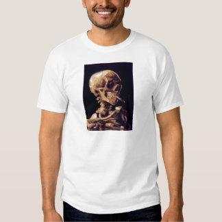 Van Gogh Smoking Skull T Shirt