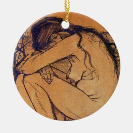 Van Gogh, Sorrow, Vintage Post Impressionism Art Christmas Tree Ornament