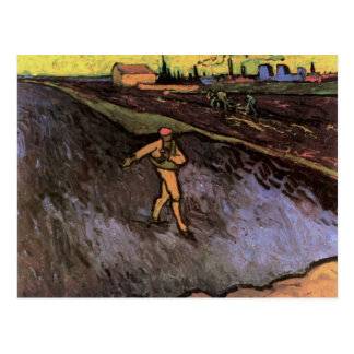 Van Gogh Sower Outskirts of Arles, Vintage Peasant Postcard
