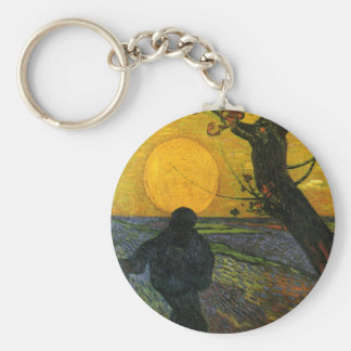 Van Gogh Sower With Setting Sun Key Chain