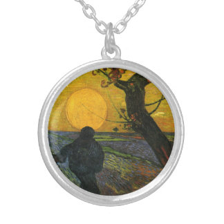 Van Gogh Sower With Setting Sun Necklace