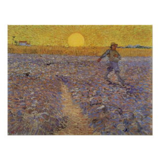 VAN GOGH - SOWER WITH SETTING SUN POSTER