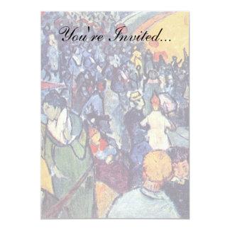 Van Gogh - Spectators In The Arena At Arles 5x7 Paper Invitation Card