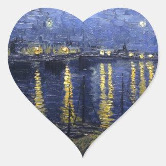 van gogh star starry-night-1888- heart sticker