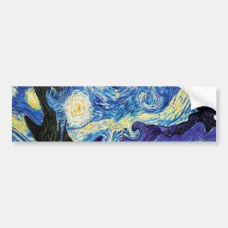 van gogh starry night 1889 bumper sticker