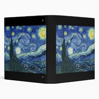 Van Gogh Starry Night 3 Ring Binder
