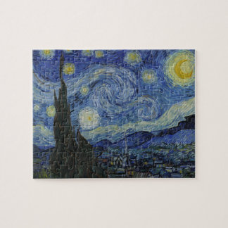 Van Gogh Starry Night 8x10 Photo Puzzle with Tin