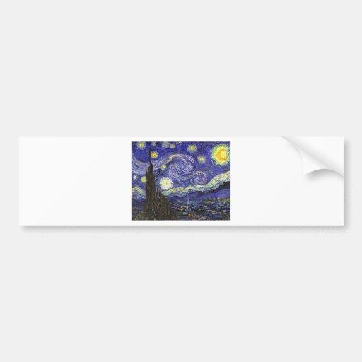 Van Gogh Starry Night Bumper Stickers