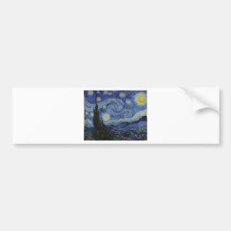 Van Gogh - Starry Night Bumper Sticker