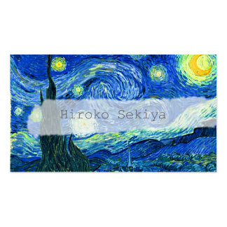 Van Gogh starry night Business Card