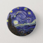 Van Gogh Starry Night Button