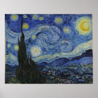 Van Gogh Starry Night Canvas Posters