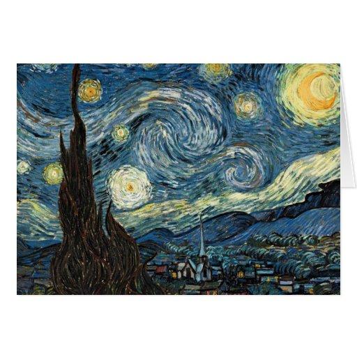 Van Gogh Starry Night Card