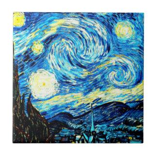 Van Gogh: Starry Night Ceramic Tile
