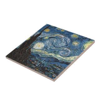 Van Gogh Starry Night Ceramic Tile