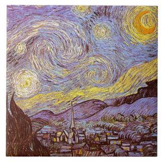 Van Gogh Starry Night Ceramics Tile