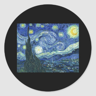 Van Gogh Starry Night Classic Round Sticker
