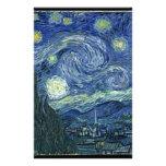 Van  Gogh Starry Night Custom Stationery