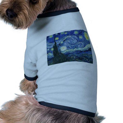 Van Gogh Starry Night Doggie T Shirt