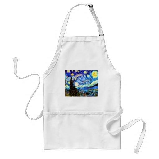 Van Gogh Starry Night (F612) Vintage Fine Art Aprons