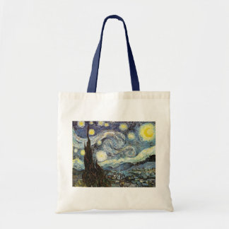 Van Gogh Starry Night (F612) Vintage Fine Art Canvas Bags