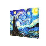Van Gogh Starry Night (F612) Vintage Fine Art Stretched Canvas Prints