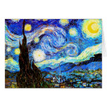 Van Gogh Starry Night (F612) Vintage Fine Art Card