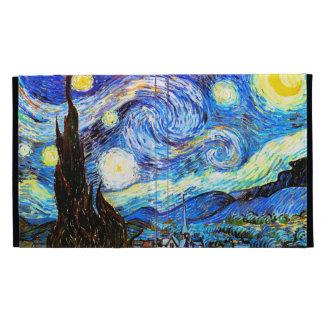 Van Gogh Starry Night F612 Vintage Fine Art iPad Folio Cases