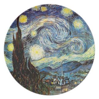 Van Gogh Starry Night (F612) Vintage Fine Art Dinner Plate