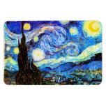 Van Gogh Starry Night (F612) Vintage Fine Art Flexible Magnets