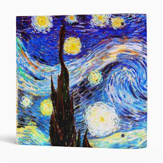 Van Gogh Starry Night Fine Art Binder