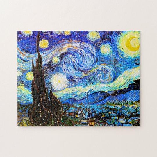 Van Gogh Starry Night Fine Art Jigsaw Puzzle