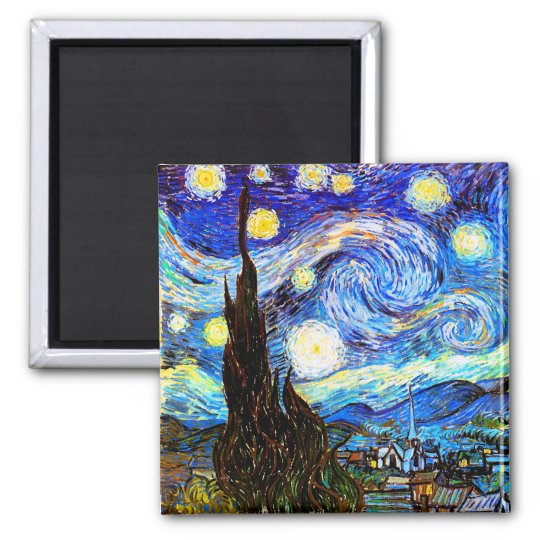 Van Gogh Starry Night Fine Art Magnet