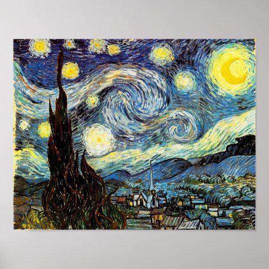 Van Gogh Starry Night Fine Art Poster