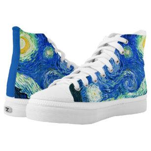 Van Gogh Starry Night High Top Sneakers