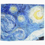 Van Gogh Starry Night Impressionism Avery Binder