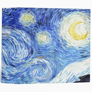 Van Gogh Starry Night Impressionism Avery Binder