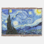 Van Gogh Starry Night Impressionism Throw Blanket