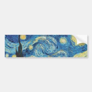 Van Gogh Starry Night Impressionist Painting Bumper Sticker
