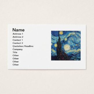Van Gogh Starry Night Impressionist Painting Business Card